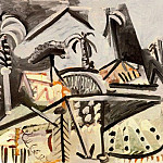 1972 Paysage, Pablo Picasso (1881-1973) Period of creation: 1962-1973