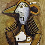Pablo Picasso (1881-1973) Period of creation: 1962-1973 - 1971 Femme au chapeau