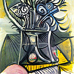 1969 Vase de fleurs sur une table 1, Pablo Picasso (1881-1973) Period of creation: 1962-1973