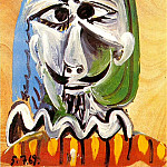 1969 TИte dhomme 1, Pablo Picasso (1881-1973) Period of creation: 1962-1973