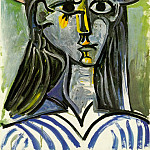 1962 Femme au chapeau , Pablo Picasso (1881-1973) Period of creation: 1962-1973