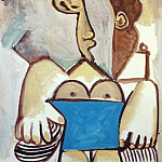 Pablo Picasso (1881-1973) Period of creation: 1962-1973 - 1971 Nu assis