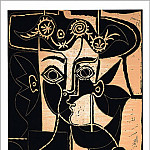 1962 femme au chapeau ornВ , Pablo Picasso (1881-1973) Period of creation: 1962-1973
