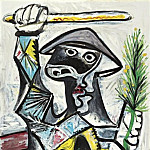 1969 Arlequin au baton, Pablo Picasso (1881-1973) Period of creation: 1962-1973