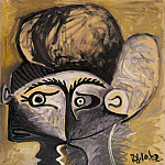 1962 TИte de femme 8, Pablo Picasso (1881-1973) Period of creation: 1962-1973