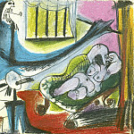 1963 Latelier- le peintre et son modКle II, Pablo Picasso (1881-1973) Period of creation: 1962-1973