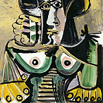 Pablo Picasso (1881-1973) Period of creation: 1962-1973 - 1971 Buste de femme 4