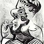 1969 Homme et femme- bustes, Pablo Picasso (1881-1973) Period of creation: 1962-1973