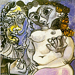 1967 Homme et femme nue 2, Pablo Picasso (1881-1973) Period of creation: 1962-1973