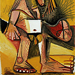 1971 Homme nu debout, Pablo Picasso (1881-1973) Period of creation: 1962-1973