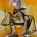 Pablo Picasso (1881-1973) Period of creation: 1962-1973 - 1971 Homme accroupi