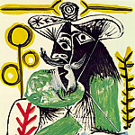 1969 Homme assis 4, Pablo Picasso (1881-1973) Period of creation: 1962-1973