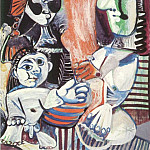 Pablo Picasso (1881-1973) Period of creation: 1962-1973 - 1970 Homme, femme et enfant 2