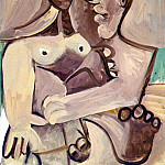 Pablo Picasso (1881-1973) Period of creation: 1962-1973 - 1971 Homme et femme 1