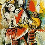 1969 Mousquetaire et amour, Pablo Picasso (1881-1973) Period of creation: 1962-1973