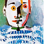 1964 TИte dhomme 8, Pablo Picasso (1881-1973) Period of creation: 1962-1973