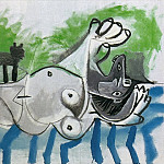 Pablo Picasso (1881-1973) Period of creation: 1962-1973 - 1964 Nu couchВ et chat IV