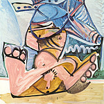 Pablo Picasso (1881-1973) Period of creation: 1962-1973 - 1971 Homme assis jouant de la flЦte