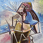 Pablo Picasso (1881-1973) Period of creation: 1962-1973 - 1971 Homme assis