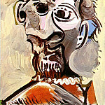 1969 TИte dhomme 3, Pablo Picasso (1881-1973) Period of creation: 1962-1973