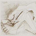 1966 Homme nu couchВ, Pablo Picasso (1881-1973) Period of creation: 1962-1973