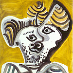 1972 TИte dhomme III, Pablo Picasso (1881-1973) Period of creation: 1962-1973