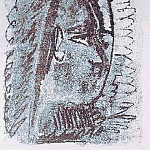 Pablo Picasso (1881-1973) Period of creation: 1962-1973 - 1963 Femme de profil droit