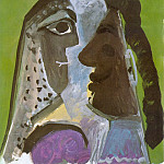 1967 TИtes dhomme et de femme, Pablo Picasso (1881-1973) Period of creation: 1962-1973