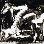 1967 La chute de la cavaliКre, Pablo Picasso (1881-1973) Period of creation: 1962-1973