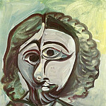 1971 TИte dhomme 6, Pablo Picasso (1881-1973) Period of creation: 1962-1973