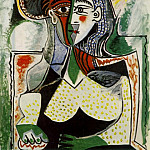 1962 Femme au grand chapeau, Pablo Picasso (1881-1973) Period of creation: 1962-1973