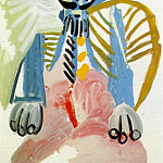 1969 Homme assis 6, Pablo Picasso (1881-1973) Period of creation: 1962-1973