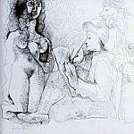 Pablo Picasso (1881-1973) Period of creation: 1962-1973 - 1970 Le peintre et son modКle 6