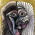 Pablo Picasso (1881-1973) Period of creation: 1962-1973 - 1972 TИte de femme