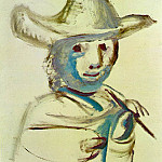 1972 Le jeune peintre, Pablo Picasso (1881-1973) Period of creation: 1962-1973