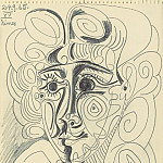 Pablo Picasso (1881-1973) Period of creation: 1962-1973 - 1965 TИte de femme 2