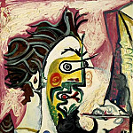 Pablo Picasso (1881-1973) Period of creation: 1962-1973 - 1963 Le peintre II