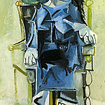 Pablo Picasso (1881-1973) Period of creation: 1962-1973 - 1964 Jacqueline assise avec son chat