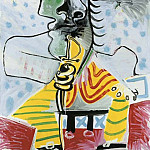 1969 Homme Е lВpВe 2, Pablo Picasso (1881-1973) Period of creation: 1962-1973