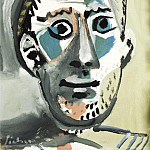 1965 TИte dhomme, Pablo Picasso (1881-1973) Period of creation: 1962-1973