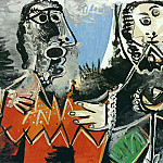 1969 Deux hommes, Pablo Picasso (1881-1973) Period of creation: 1962-1973