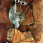 1969 Homme Е la pipe, Pablo Picasso (1881-1973) Period of creation: 1962-1973