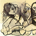 1971 Trois personnages, Pablo Picasso (1881-1973) Period of creation: 1962-1973