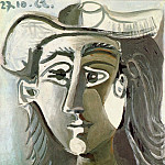 1962 TИte de femme au chapeau, Pablo Picasso (1881-1973) Period of creation: 1962-1973