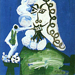 1968 Homme assis Е la pipe, Pablo Picasso (1881-1973) Period of creation: 1962-1973