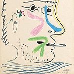 Pablo Picasso (1881-1973) Period of creation: 1962-1973 - 1964 TИte dhomme Е la cigarette