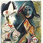 1972 Pierrot et Arlequin, Pablo Picasso (1881-1973) Period of creation: 1962-1973
