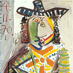 1970 Buste dhomme au chapeau, Pablo Picasso (1881-1973) Period of creation: 1962-1973
