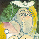 Pablo Picasso (1881-1973) Period of creation: 1962-1973 - 1971 Buste de femme 1