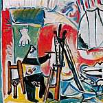 Pablo Picasso (1881-1973) Period of creation: 1962-1973 - 1963 Le peintre et son modКle IV